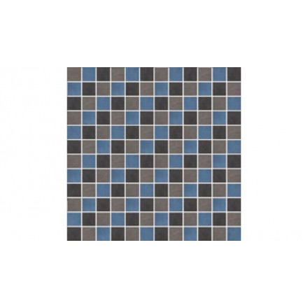 Wandfarben Blau Grau 2: Kermos Berlin Mosaikfliesen 2,5x2,5 Grau-schwarz-blau
